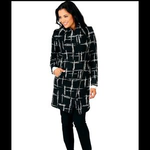 NEW Tracy Moore By Freda Tweed Zipper front coat